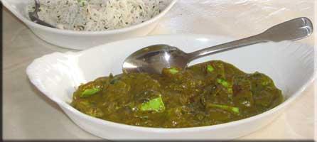 Paneer chutney masala